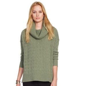 Long Sleeve Wool Cashmere Turtleneck Sweater Top L